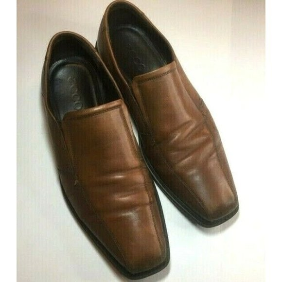 Ecco Brown Leather Dress Shoes Slip On's EUR Size